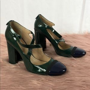 06976c051d6 Tory Burch Shoes - Tory Burch Green Amble Crisscross Pump